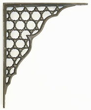 "Single 10"" / 25cm Large Cast Iron Ornate Victorian Honeycomb Wall Shelf Bracket"