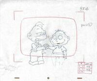 RUGRATS Original Production Cel Cell Drawing Nicktoon COA Animation 90s Tommy