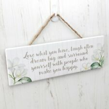 Splosh Pacific Breeze HAPPINESS Inspirational Hanging Sign Wall Home Decor