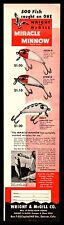 1950 WRIGHT & McGILL Vintage Fishing Lure Lures AD Antique Old Tackle