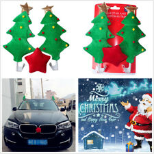 Cute Christmas Tree+Red Star Funny Decoration For Car Costume Xmas Creative Gift