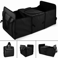 BLACK Heavy Duty Collapsible Car Boot Organizer Foldable Tidy 2-in-1 Storage