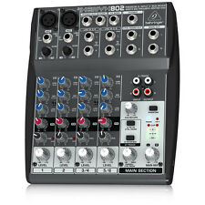 Behringer Xenyx 802 Premium 8-Input 2-Bus Mixer with Xenyx Mic Preamps and Briti
