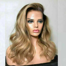 Luxury Lace Front Remy Wavy Ombre Ash Honey Blonde Full Lace Human Hair Wig
