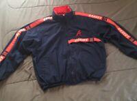 Vintage Pro Player Atlanta Braves Baseball Windbreaker Jacket Full Zip XGD/XL
