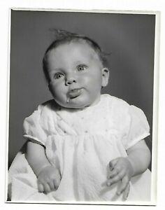 9 x 7 Original Marcus Adams Photo Inconnu Slobbery Bébé Looks Like Gerber Bébés