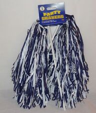 New Beistle Football Cheerleader Party Shaker Pom Pom 2pc Blue White