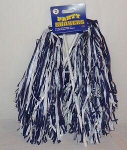 New Beistle Football Cheerleader Party Shaker Pom Pom 2pc Blue White