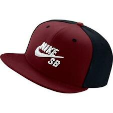 NIKE SB Pro Hat Dri Fit Snapback Red Black 6 Panel 628683 678 NWT