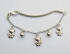 Niedliches 925 Silber Armkettchen für Kinder - Bären - 16cm
