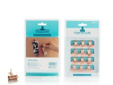 12 Pack Push Pin Copper Colour Clips - Mini Bulldog Metal Grip Paper Clips Gift