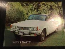 Rover 2000 TC Car Brochure - USA Market - c1970