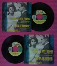 "LP 45 7"" DAVID RUSSELL This is my song Tema d'amore parigi brucia no cd mc dvd"