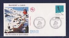 enveloppe 1er jour   transports a cables  38  Grenoble      1987