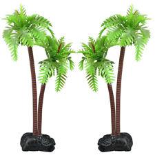Aquarium Fish Tank Palm Trees Landscaping Ornament 8.5cm x 7.5 cm x 3cm - By DIG