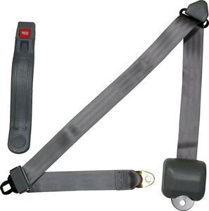 All98116 Seat Belt Retractable 3Pt Gray