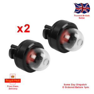 X2 Snap In Primer Bulbs For Strimmers, Chainsaws, Leaf Blowers, Hedge Trimmers.