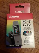 Canon BCI-21 Color Ink Genuine Cartridge Sealed Unopened