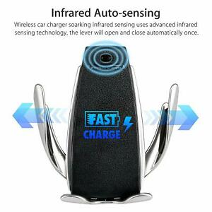 Auto Sensor Wireless Fast Car Charger Phone Holder Charging Mount Clamping Vent