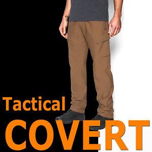 MENS UNDER ARMOUR UA TACTICAL STORM COVERT CARGO PANTS BROWN SOFT 1291434-728