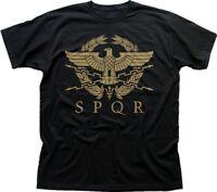 SPQR Roman Gladiator Imperial Golden Eagle Army printed t-shirt FN9183