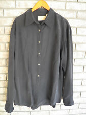 Mens Scully Shirt Western Long Sleeve Black Sheriff Badge Star Buttons L PW-011