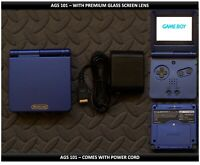 Nintendo Game Boy Advance GBA SP System AGS101 Brighter-Glass Screen Cobalt Blue