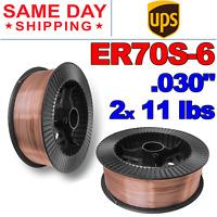 """ER70S-6 .030"""" (0.8 mm) Mild Steel MIG Welding Wire - 11 Lbs (2 Rolls)"""