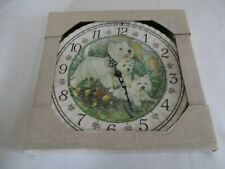 LANDS END POTTERY, 3 HIGHLAND TERRIERS WALL CLOCK