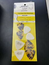 Vintage NATIONAL PICK OF THE PROS Guitar Pick Card with 8 Picks Original Package