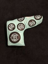 TBC THE BUCK CLUB TIFFANY/BLACK Leather BLADE PUTTER Headcover