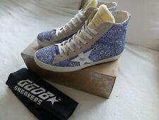 Golden Goose Sneaker HighTop Glitzer hellblau/crème 38 LUXUS TOP Mytheresa