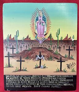 Daniel Vilchis Ex Voto Retablo Honoring Murdered Women In Juarez ~ Mexico