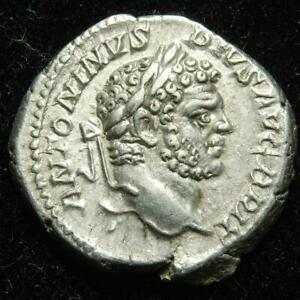 Caracalla AR denarius, rev. Serapis, Rome mint 213AD - RIC 208a