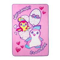 Hatchimals Plush Blanket Girls Bedding Twin Size 62 x 90 Super Soft