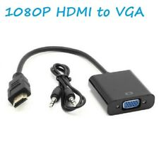1080p HDMI to VGA Audio Adapter Cable Converter for HDTV PC Monitor Laptop
