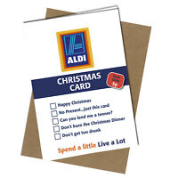 #401 CHRISTMAS CARD Rude Greeting Card funny humour joke ALDI Xmas Card