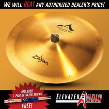 "Zildjian A 22"" Swish Knocker Cymbal with 20 Rivets + FREE Vater Drum Sticks!"