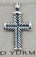 David Yurman sterling  Silver Chevron Cross Pendant