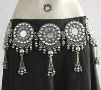 Elegant BELT Tribal Fusion Belly Dance Boho Gypsy Kuchi Skirt Costume Jewelry