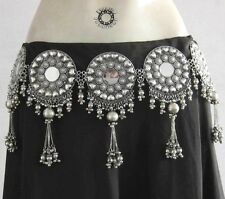 Tribal Mirror Kuchi BELT Belly Dance Bohemian Gypsy Festival Ats Costume Jewelry