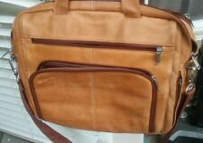 Wilsons leather brown leather lap top shoulder breifcase tote bag