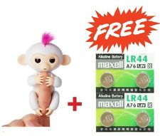WOWWEE FINGERLINGS INTERACTIVE WHITE MONKEY 100% AUTHENTIC + BONUS MAXELL LR44