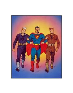 Man...and Superman! DC Comics Golden Age style Sericel
