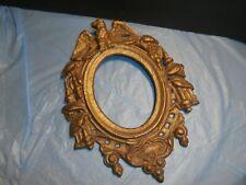 Antique Cast Iron Picture Mirror Frame w/ Eagle
