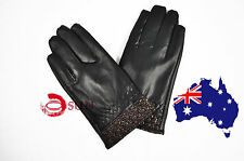 New Men Black Fashion Everyday Cycling Bike Driving Faux Leather Gloves