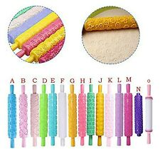 15 x Design Embossed Rolling Pin Set - 15 Different Designs
