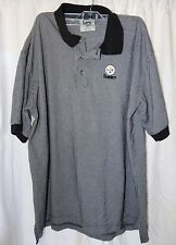 Lee Sports NFL AFC Pittsburgh Steelers Polo Rugby Shirt Men's XL