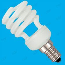 2x 14W Low Energy CFL Mini Spiral Light Bulbs; SES, Screw E14 Save Power + Cash