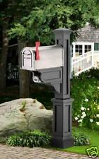 """Mailbox Post """"Dover"""" - Black- with newspaper holder"""